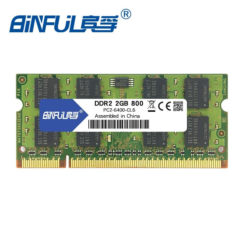 Binful New Brand DDR2 1GB 2GB 800mhz PC2-6400  MEMORY RAM 200PIN Laptop SDRAM Notebook 1.8V