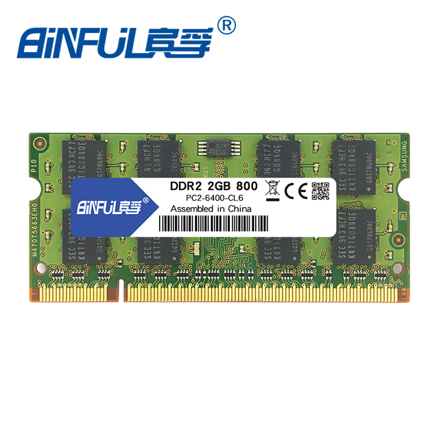 Binful Nova Marca de MEMÓRIA RAM DDR2 de 1 GB 2 GB 800 mhz PC2-6400 SDRAM 200PIN Laptop Notebook 1.8 V