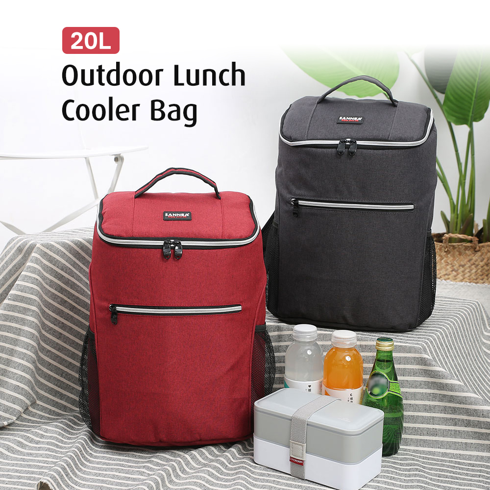 Image 5 - 20L Outdoor Insulated Bag Cooler Luch Tote Thermal Bento Bag Outdoor Camping BBQ Picnic Food Freshness Cooler Grocery Shoulder-in Picnic Bags from Sports & Entertainment