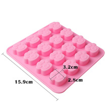 1 unids Pet Cat Dog Paws Molde de Silicona 16 agujeros Pastel de Galletas Dulces de Chocolate DIY Molde 15.9 cm