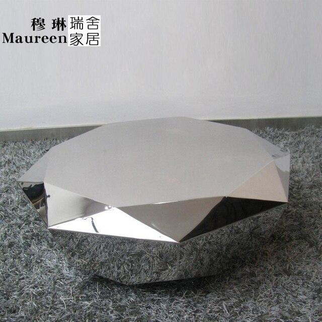 Swiss Homes Cj 92 Stainless Steel Coffee Table Round Paint Diamond Design Minimalist