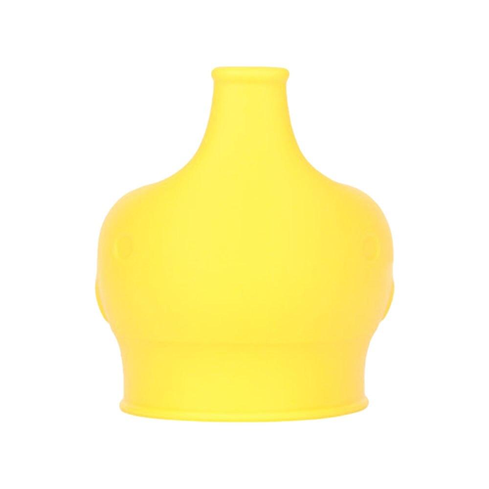 Сиппи открывающаяся крышка Силиконовая Стекло чашки ребенка поставить защита от проливов питья силиконовая крышка детские бутылочки Кепки аксессуары для бутылок - Цвет: yellow