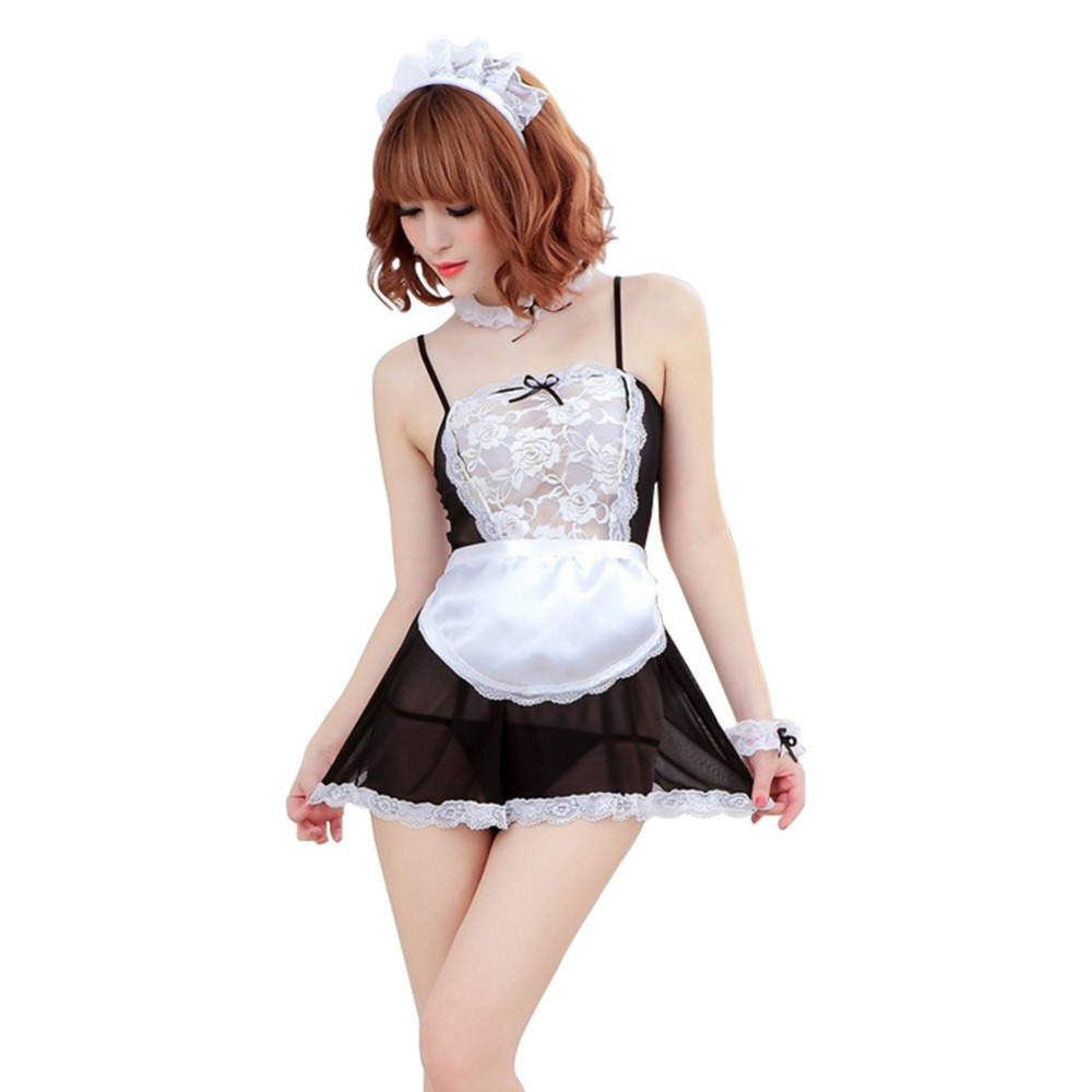 Buy 2017 Sexy lingerie sexy underwear lovely Female Maid classical Lace sexy miniskirt lolita maid outfit sexy costume sex products