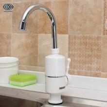 3000 Вт Электрический Кухня водонагреватель кран горячая вода кран нагреватель холодной отопление кран Кухня tankless проточный