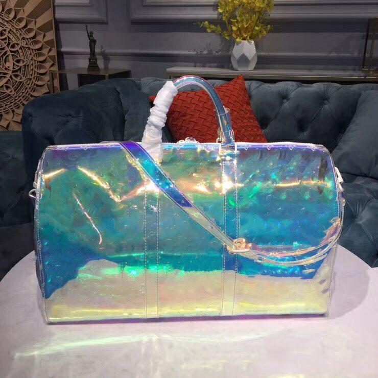 2019 Designer New Best Quality Transparent Laser Duffle Bags Fashion Bag Travel Shoulder Handbag Big Capacity Bag Keepall