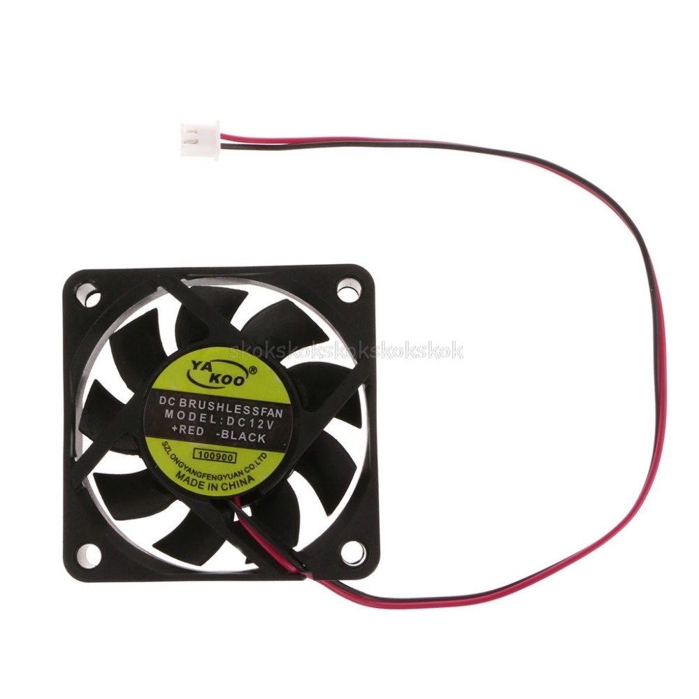 DC 12V 2-Pin 60x60x15mm PC Computer CPU System Sleeve-Bearing Cooling Fan 6015 #H029# gdstime 10 pcs dc 12v 14025 pc case cooling fan 140mm x 25mm 14cm 2 wire 2pin connector computer 140x140x25mm