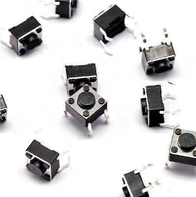 30pcs Tactile Switch Touch Push Button Key Tact Cooker 6 X 6 X 4.3mm 4-pin DIP