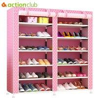 Actionclub Thick Non woven Double Row Multi layer Shoe Cabinet Shoe Rack Storage Shoe Organizer Shelves DIY Home Furniture