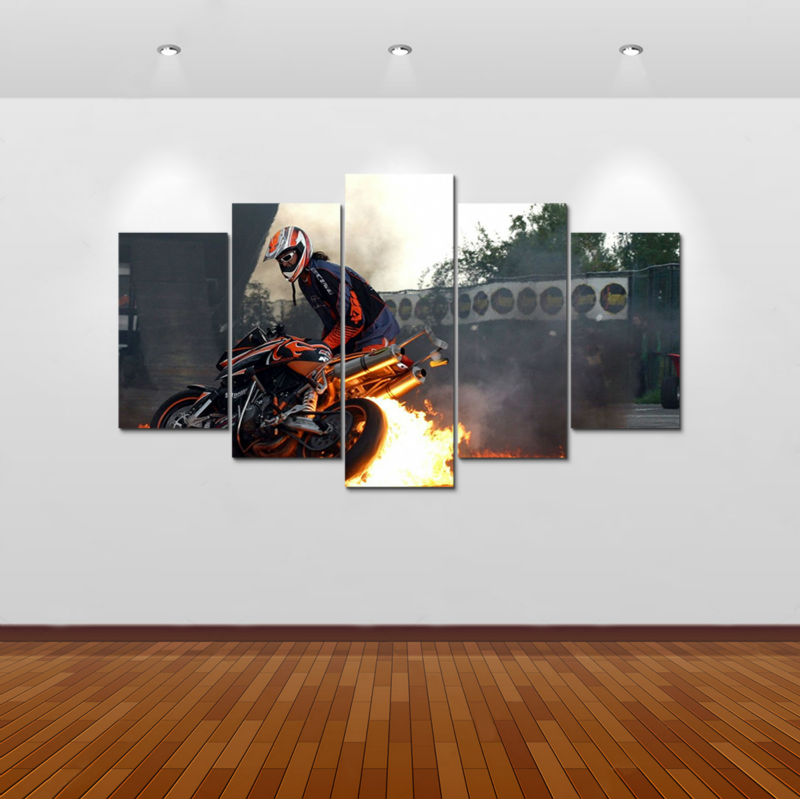 Ica Home Decor: 5pcs Print Supersport Motorcycle Painting Home Decor