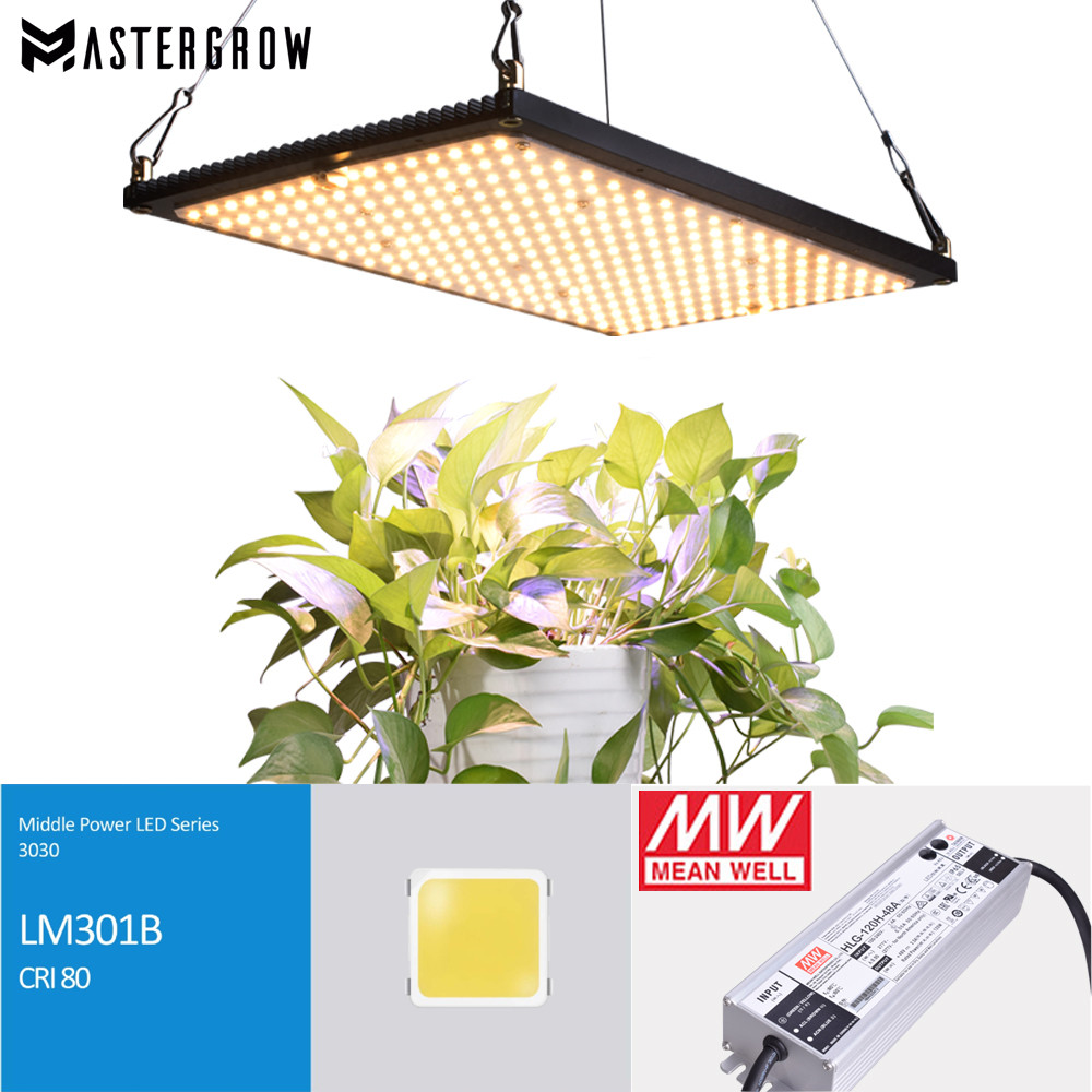 Full Spectrum 240W Led Grow Light Quantum Board 288Pcs 3000K LM301B Samsung Chip 660nm Red Veg/Bloom State With Meanwell Driver