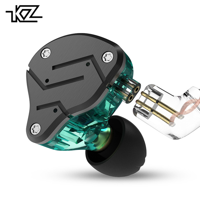 Original KZ ZSN Earphone Wired Headphones 1BA+1DD Hybrid Technology 4 Drive Unit Noise Cancelling Sport Headset With Microphone