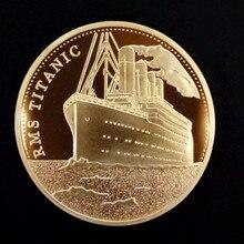 Памятные Титаник удача художественные подарки для коллекции Биткоин сплав сувенир позолоченный монета имитация металла