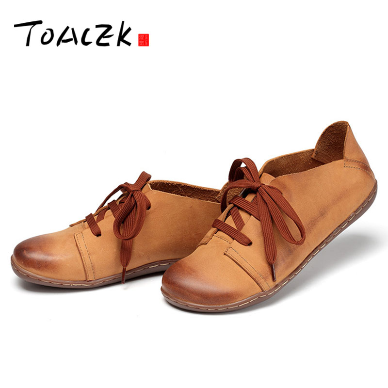 Women s shoes new handmade leather retro women s shoes Japanese first layer cowhide literary single