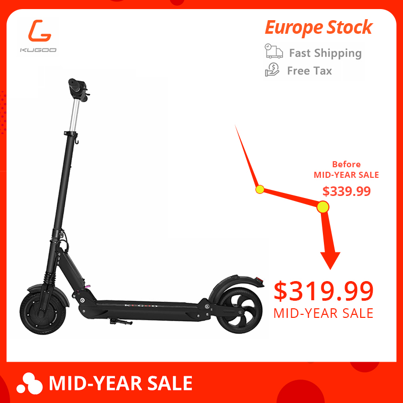 KUGOO S1 patinete electrico adulto scooter plegable 350W Motor Folding 8 Inches 30KM Mileage PK Xiaomi