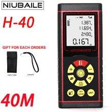 Big sale NIUBAILE 40M Electronic Laser Range Finder Handheld Trena Laser Rangefinder Battery-Powered Laser Measure Device H40-ZM-R