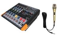 STARAUDIO Pro Stage Live Studio 4 Channel 2000W MP3 Bluetooth USB Amplifier Power Mixer W/1 Handheld Microphone SMX 4000B