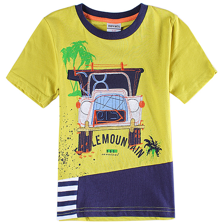 Boys clothes brand yellow kids t shirt boys children t for Yellow t shirt for kids