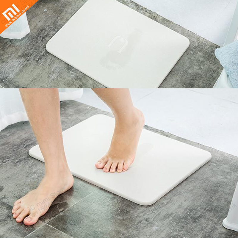 Xiaomi Mijia Naturel diatomées boue tapis salle de bains anti-slip mat sol pad absorbant l'eau à séchage rapide toilette de salle de bain paillasson maison