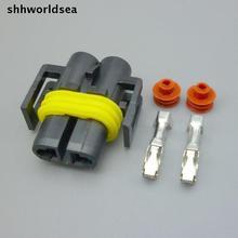 Shhworldsea 5/30/100 세트 키트 h8 h10 h11 foglight 커넥터 여성 자동 소켓 키트