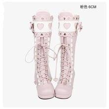 1123d2d7 Princesa dulce punk zapatos clásicos botas LOLITA y princesa dulce suave  botas mariposa nudo amor encaje Lolita botas altas pu81.