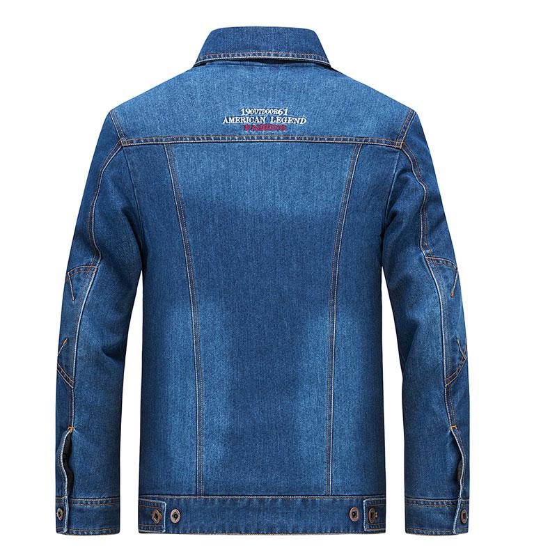 95d3b77842 2017 ropa de hombres ropa chaqueta Retro M ~ 4XL abrigo Slim Fit Casual  azul abrigos chaqueta de manga larga bolsillo de moda en Chaquetas de La  ropa de los ...