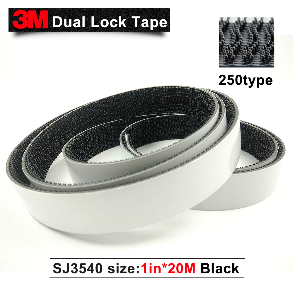 Hot sale 2015 3M SJ3540 dual lock tape, Black adhesive double sided tape black rubber 3M tape 1 * 20m1 in* 20m we can die cut 3m adhesive tape bicycle helmet mount for 1 4 camera black