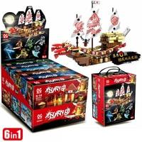 6PCS/1Set Lepin Kids Building Blocks Enlighten Toys for Children Compatible Legoing Ninjagoes DIY Bricks for Boy Friends Gifts