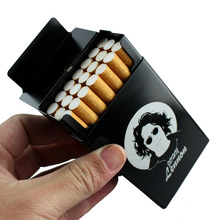 Elvis Che Chairman Mao Monroe MJ John Lennon Laser Carved Cigarette Boxes Aluminium Alloy Beauty famous people Case