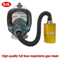 High Quality Respirator Gas Mask 3 Sets Fire Control Military Pesticides Gasmaske Comparable III M 6800