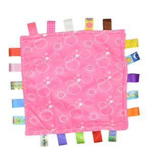 Image 4 - 7 tarzı 30 cm Bebek Rahatlatıcı Taggies Battaniye Süper Yumuşak Kare Peluş Bebek Yatıştırmak Havlu bebek oyuncakları