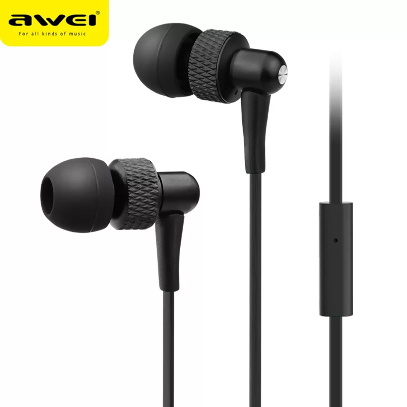 Awei ES 390i In Ear-Earphone Earbuds With Microphone Noise Cancelling for Android IOS image
