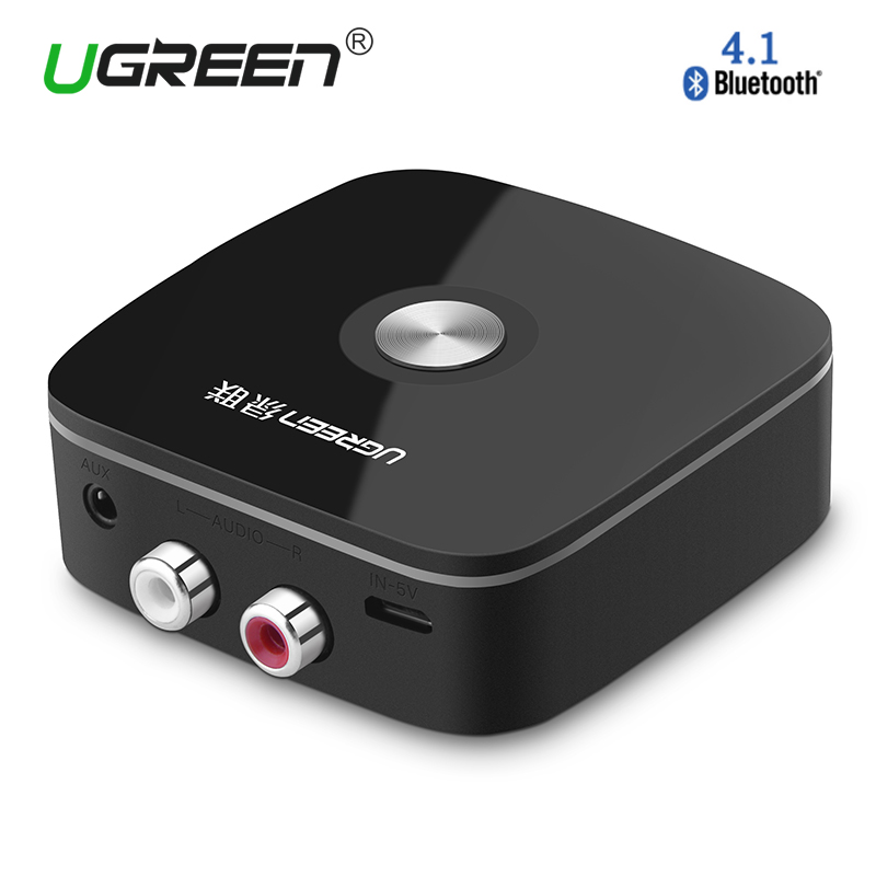 Ugreen Wireless Auto 4.1 Bluetooth Receiver Adapter 3.5mm a RCA AUX Audio Adapter Music for Altoparlanti Auto Telefono MP3 cuffia