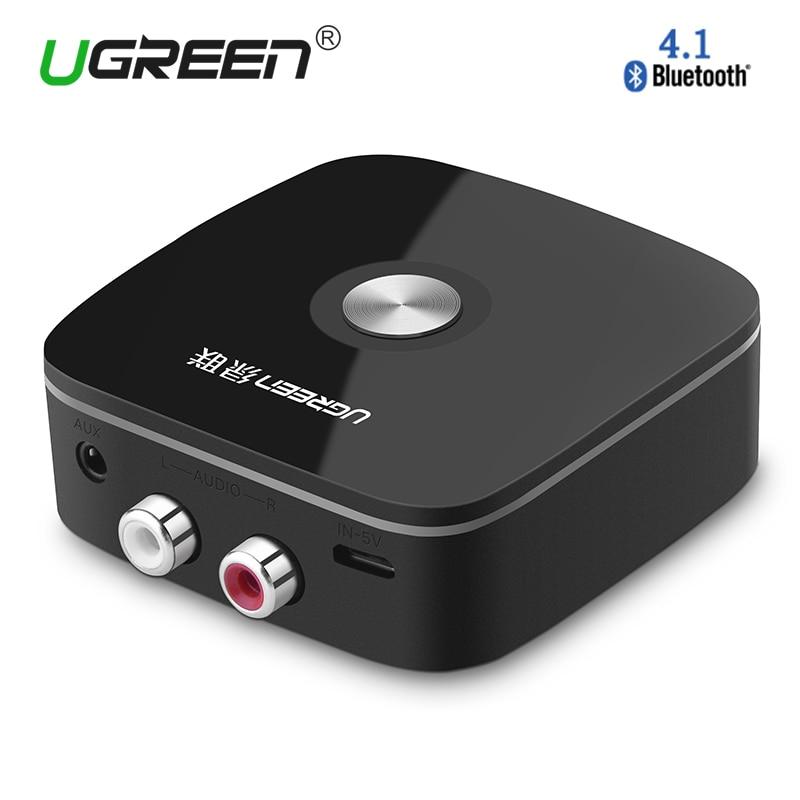 Ugreen Wireless Auto 4.1 Bluetooth Receiver Adapter 3.5mm a RCA AUX Audio Adapter Music for Altoparlanti Auto Telefono MP3 cuffia