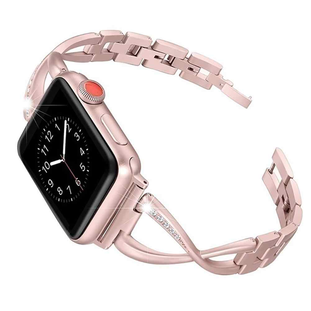 40/44mm Replacement Rhinestone Watch Band Wristband Strap for Apple iWatch 4 watch strape