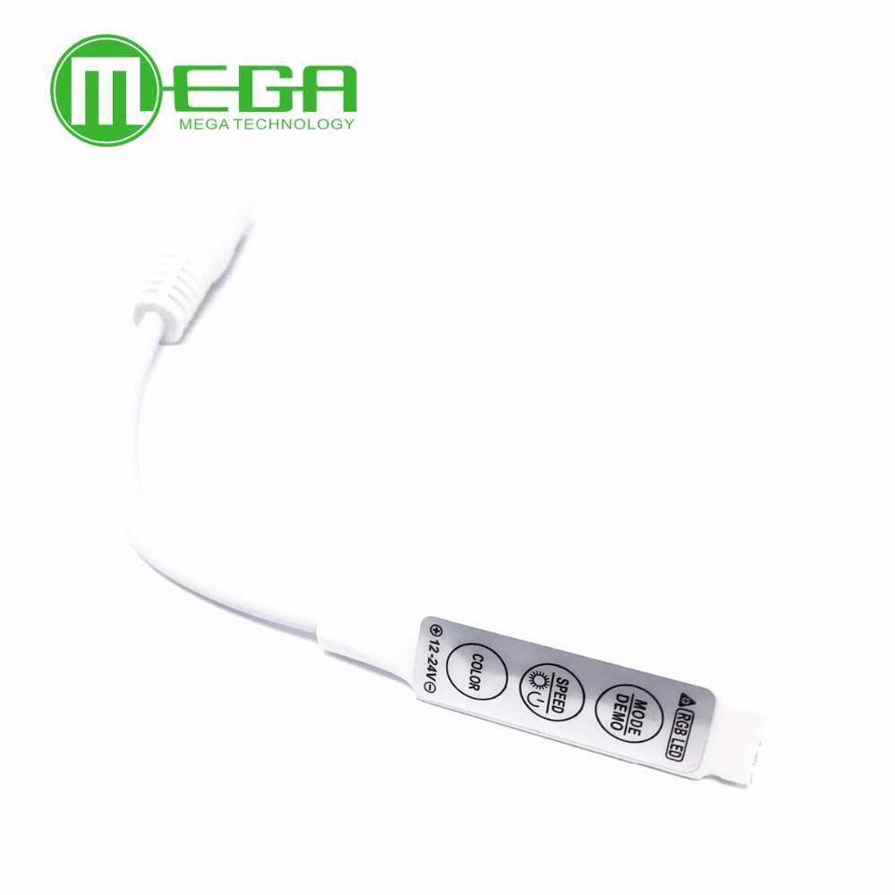 Admirable 1X 12V Mini controlador Dimmer contor 3528 LED 5050 RGB 3 Llaves MF
