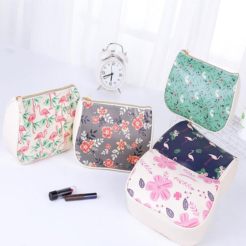 Nylon Printing Waterproof Cosmetic Bag Travel Portable Women Makeup Bag Organizer Wash Bags Fashion Maiden Wind Toiletry Kit