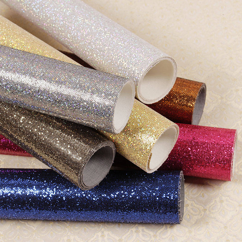 16 colors modern glitter wallpaper living room club for Cheap glitter wallpaper