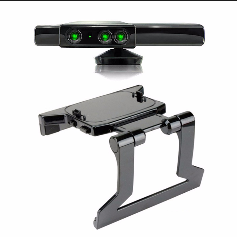 1pc 2016 Hot Sale TV Clip Clamp Mount Mounting Stand Holder for Microsoft Xbox 360 Kinect Sensor Newest Worldwide Hot Drop ...