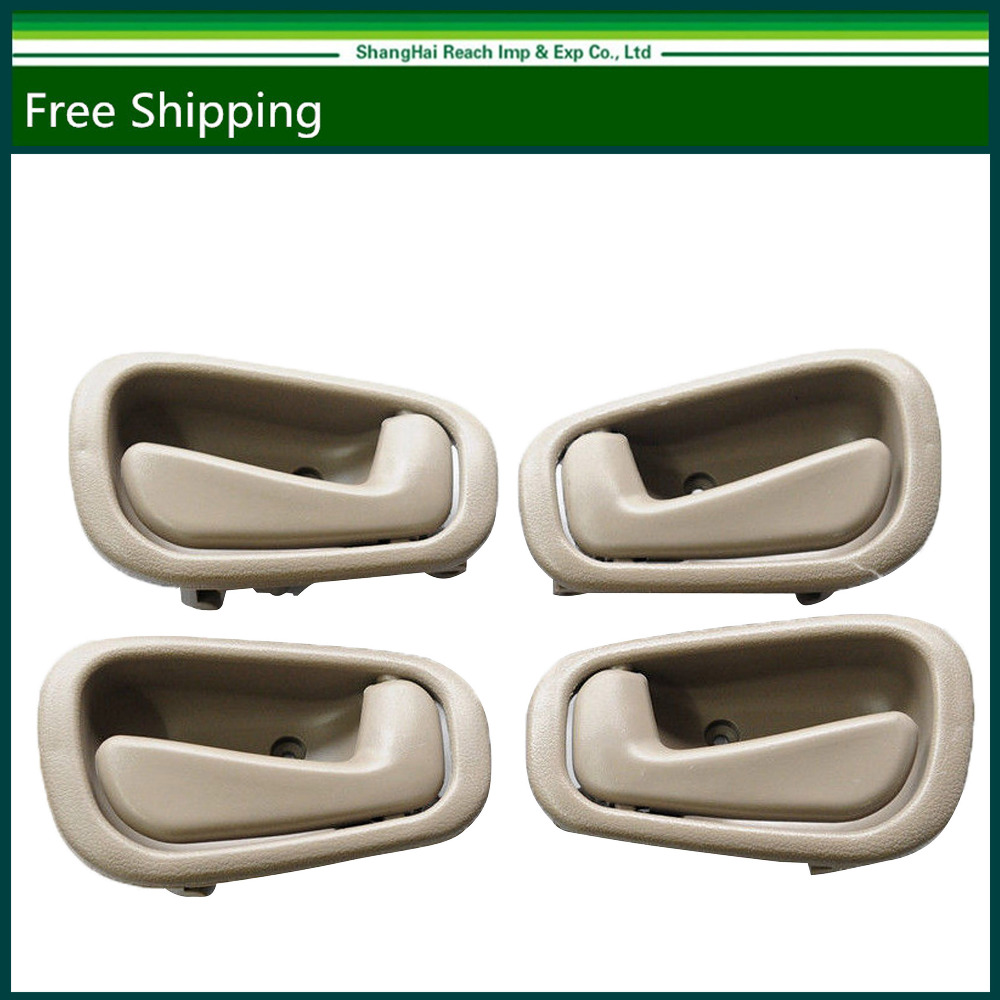 e2c interior door handle for toyota corolla chevrolet prizm beige pair set of 4 oe 6920502050 69205 02050 6920602050 69206 02050 [ 1000 x 1000 Pixel ]