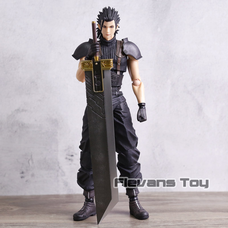 Original Play Arts KAI Final Fantasy XV Zack Fair PVC Action Figure Collectible Model Toy play arts kai street fighter iv 4 gouki akuma pvc action figure collectible model toy 24 cm kt3503