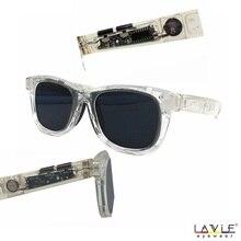 Sunglasses with Variable Electronic Tint Control Men Polarized Transparent Eyewear Frame