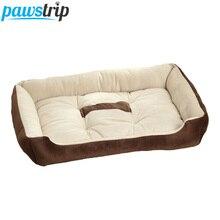 6 размеров, мягкая флисовая подушка для кровати для собак, с принтом в виде костей, большие кровати для собак, для Лабрадора, золотого ретривера, мягкое теплое зимнее одеяло для собак