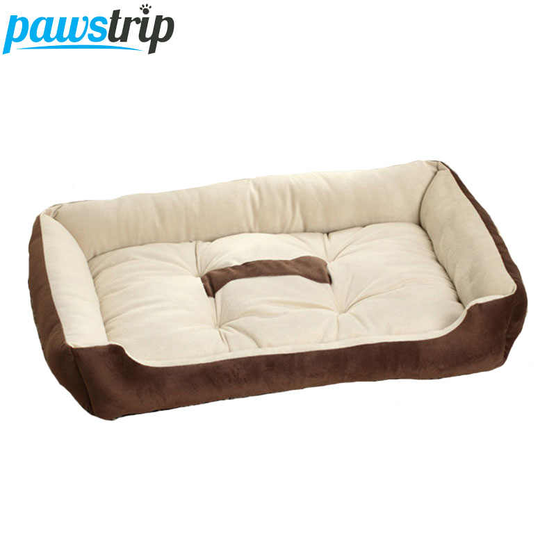 3e06a7c0c989 6 Size Soft Fleece Pet Dog Bed Cushion Bone Print Large Breed Dog Beds For  Labrador