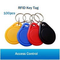 100pcs 13.56MHz Keyfobs Tags Access Control RFID Key Finder Card Token Attendance Management Keychain for access control