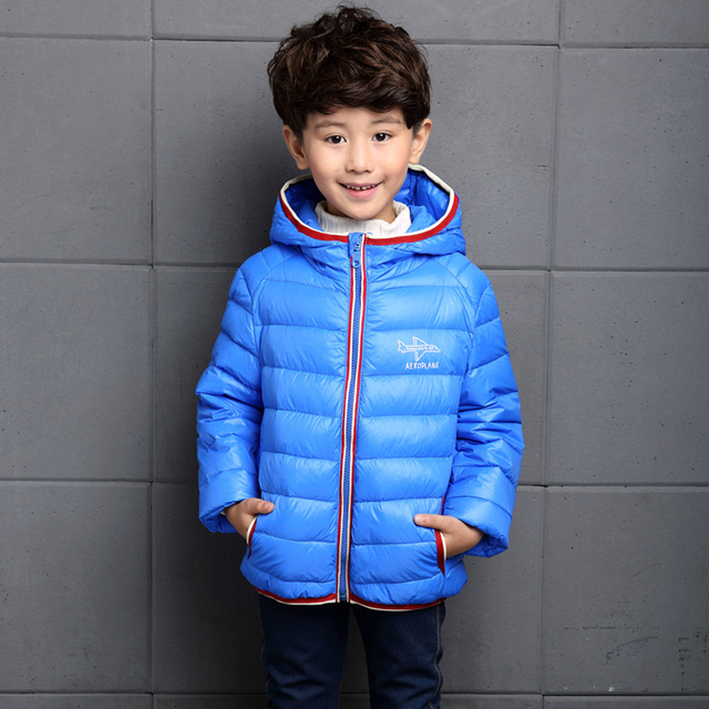 2016 New Winter Children's Clothing Boys and Girl Down Jacket Hooded Thick Short Paragraph Down Coat 6-14year