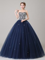 2019 Ensotek Sweetheart Beaded Lace up Quinceanera Dress Long Graduation Prom Party Dresses for Evening Wear robe de soriee