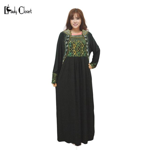 Платье мусульманских женщин Абая jilbabs и abayas исламская одежда для женщин одежда турции фотографии платьев Плюс размер женской одежды