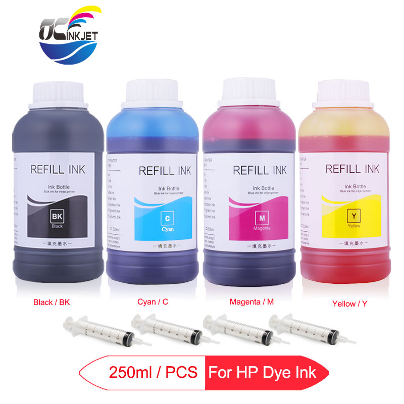 4 x 250ml Universal Dye font b Ink b font For HP Designjet 500 500ps 800