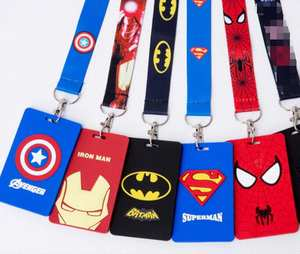 AKOLION 1 pcs Cartoon batman card Charms Key Chain