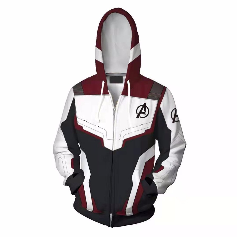 Movie Avengers Endgame Quantum Realm Sweatshirt Jacket Advanced Tech Hoodie Cosplay Costumes superhero Iron Man Hoodies
